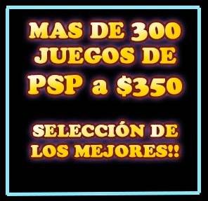 300 Juegos De Psp A $350 - La Mejor Opcion