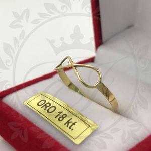 Anillos Infinito Oro 18k Para Mujer Regalo Anillo Compromiso