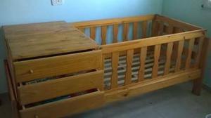 Cama y cuna funcional con colchón