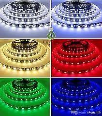 * DECOSLEO *TIRAS LEDS  X 5 METROS RGB fuerte CON