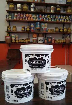 Dulce De Leche Repostero Vacalín Balde X 4 Kg