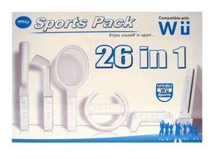Set De Accesorios Deportivos 26 Piezas Para Wii Caja Cerrada