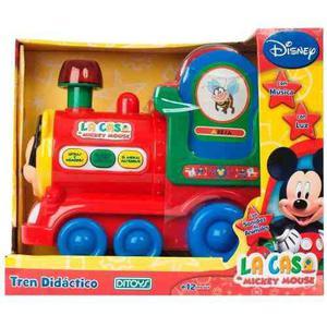 Tren Didactico Interactivo Mickey Mouse Luz Y Sonido Once