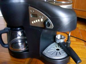 Cafetera dúo filtro y express usada