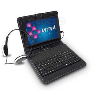 Tablet Tyrrell 10 Pul Quadcore + Auricular + Funda + Teclado