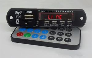 2 X Módulo Mp3 Usb/sd/fm/aux Con Bluetooth Y Control Remoto