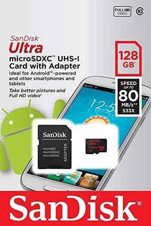 Micro Sd 128 Gb Sandisk Ultra Sdxc UHS-I Clase 10 - Rosario
