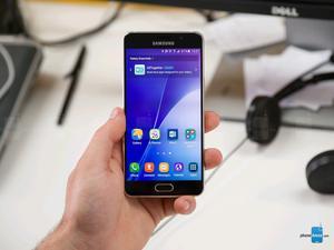 Samsung galaxy A dorado completo en excelente estado