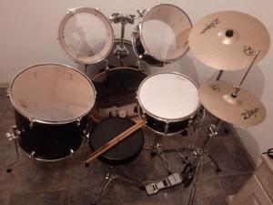 batería de percusión legend con platos zildjian nueva