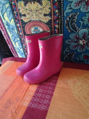Botas de lluvia rosadas