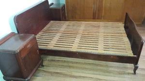 Juego De Dormitorio Antiguo De Cedro Macizo- Muy Buen Estado