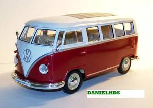 Volkswagen Classical Bus  Camioneta Vw Esc 1/24 Metal