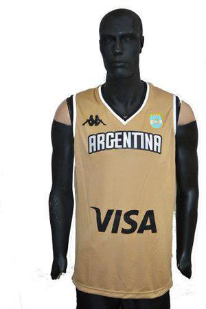 Camiseta Argentina Basquet Kappa Rio 2016