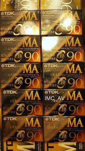 Cassette De Metal Tdk Ma-90 Sellados Por Caja De 10! Japan.