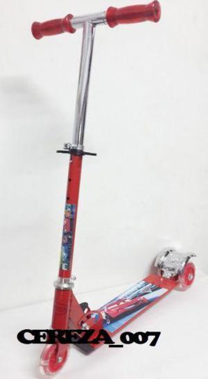 Monopatin Scooter 3 Ruedas Con Luces De Cars