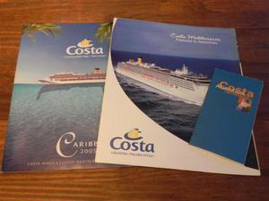 colección de mapas y revistas de costa cruceros