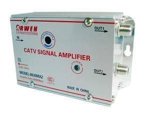 Amplificador De Señal 2 Salidas Antena Cable Tv Vhf Uhf