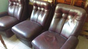 Antiguo sillón americano de 3 cuerpos