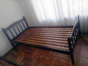 Cama 1 Plaza Cedro colchón espuma enfundado
