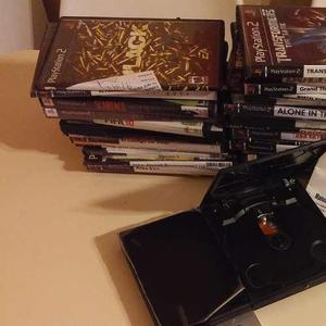 Playstation 2 Slim Chipeada Con Más De 50 Juegos! (devoto)