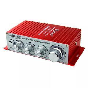 Potencia 12v Auto Moto Audio Rca Mini Plug 3,5 Amplificador