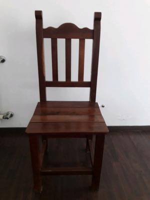 Vendo sillas de algarrobo