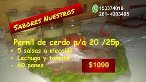 1090 pernil p/a 20-25,ternera, pecetos con salsas,