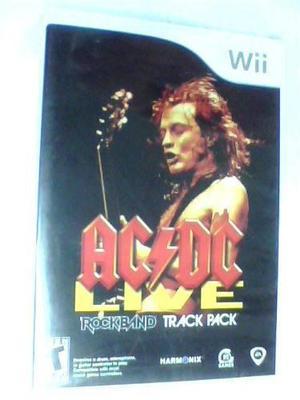 Ac/dc Live Rock Band Track Pack Wii Original Nuevo Fisico