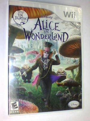 Alice In Wonderland Wii Original Nuevo Caja Sellada Fisico
