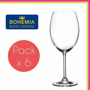Copa De Cristal Bohemia Degustacion 590ml Caja X6 Unidades