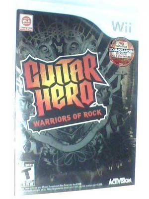 Guitar Hero Warriors Of Rock Wii Nuevo Caja Sellada Fisico