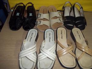 Lote de 5 pares de sandalias y chinelas N*36