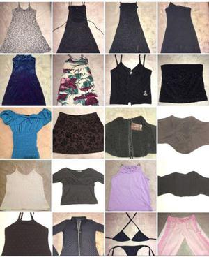 Lote de ropa de mujer usada