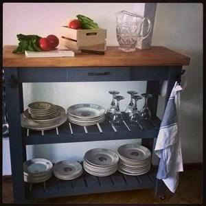 Mesa auxiliar arrime o isla cocina posot class for Mesa auxiliar isla de cocina