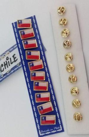 PINS BANDERA CHILE 2 CMS