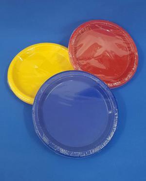 Plato Plástico Rigido Descartable Para Postre (x 10 Unid)