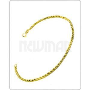 Pulsera Soga Láser Oro Amarillo 18 K 20 Cm 1.4 Grs