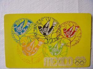 Dos Postales De México De 1968 Por Los Juegos Olimpícos