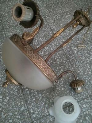 Lámpara bronce antigua