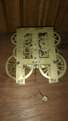 Maquina Reloj A Cuerda Pared Waterbury