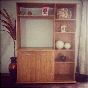 Mueble Modular para TV + Biblioteca Incluida