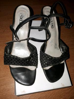 Zapatos De Fiesta, Taco De 5cm,talle 37!usados