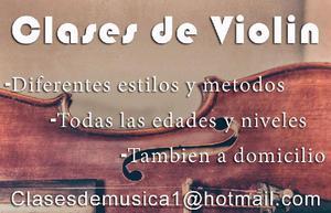 Clases De Violin Todas Las Edades A Domicilio