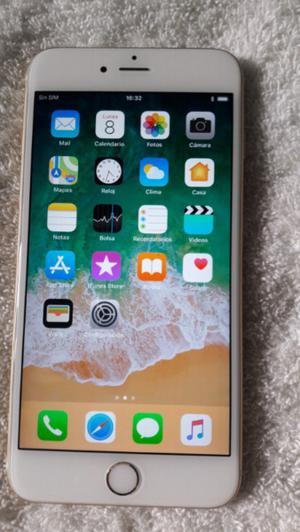 Iphone gold 6s plus de 16 gb impecable libre de iclou libre
