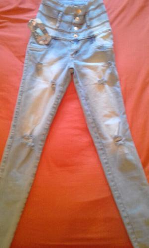 Pantalon Tiro alto elastizado Mujer