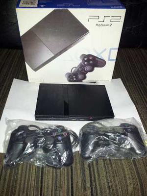 Playstation 2 Slim Chipeada + 2 Joystick + Memory 8mb