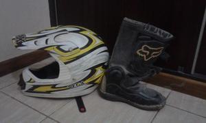 Vendo casco y botas para moto