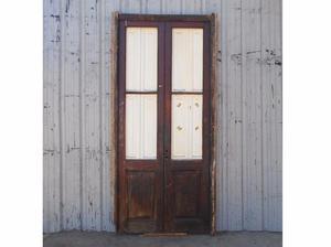 Antigua puerta de madera en cedro a dos hojas (217x263cm)