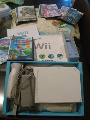Consola Nintendo Wii Blanca con caja y manual original.