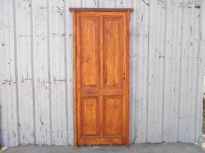 Dos puertas tablero de madera antigua en pino oregon con